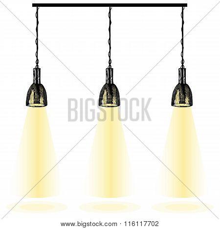 Hand drawn illustration of lights