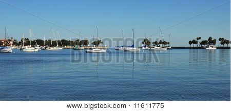 Sailboats in Panoramic view
