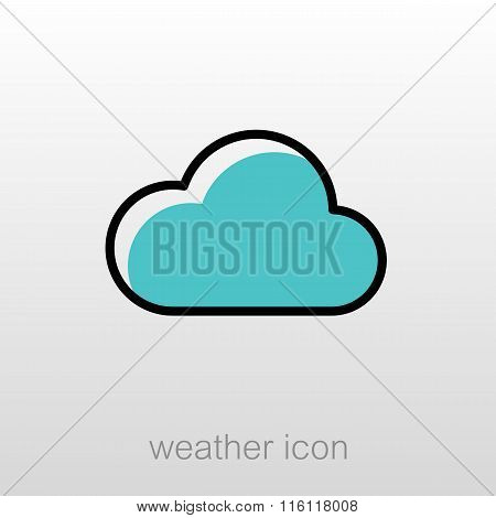 Cloud Icon. Meteorology. Weather