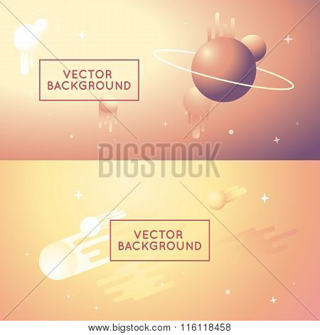 Vector Abstract Backgrounds In Bright Gradient Colors