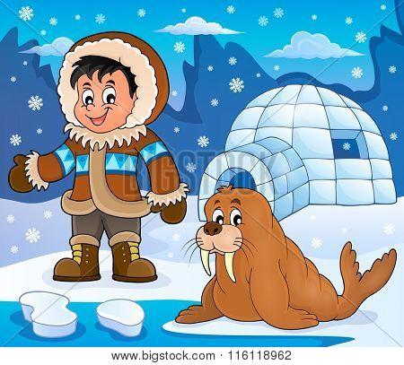 Arctic theme image 3 - eps10 vector illustration.