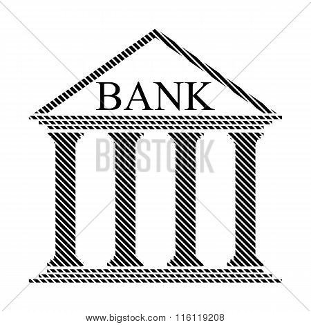 Bank Sign On White.