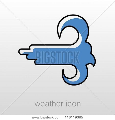 High Wind Icon. Meteorology. Weather