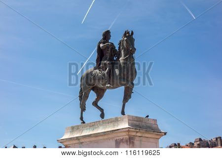 Statue Of King Louis Xiv, Lyon France