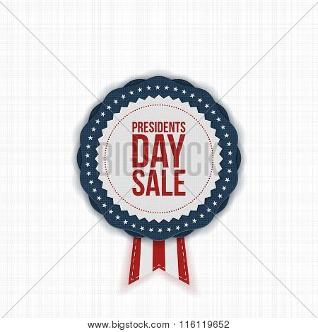 Presidents Day Sale american Label with Ribbon