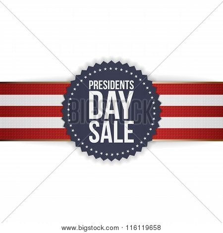 Presidents Day Sale realistic blue american Emblem