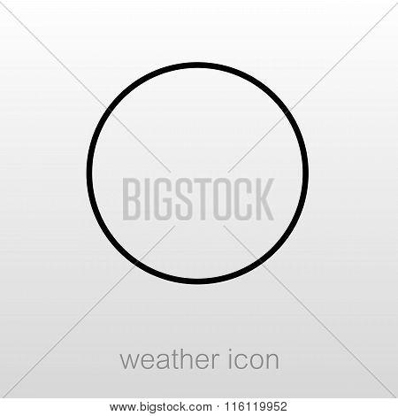 New Moon Outline Icon. Meteorology. Weather