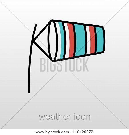 Windsocks Inflated By Wind. Meteorology. Weather