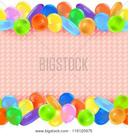 Vector Border With Balloons