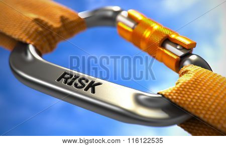 Chrome Carabine Hook with Text Risk.