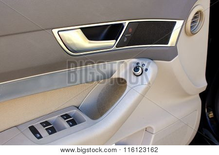 Car Door With Window Buttons And Locks