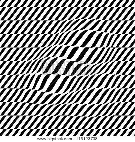 Black And White Seamless Illustration
