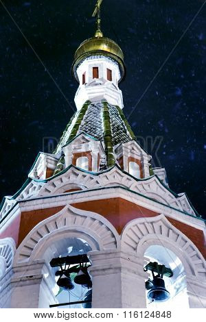 Bell tower of Kazan Cathedral on Red square