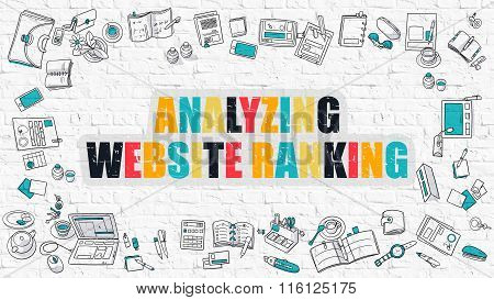 Analyzing Website Ranking on White Brick Wall.
