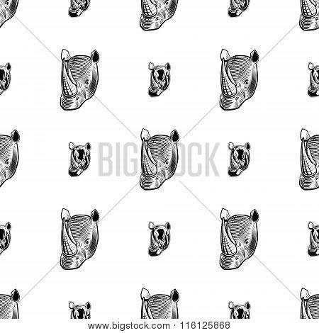 Rhino Seamless Pattern.