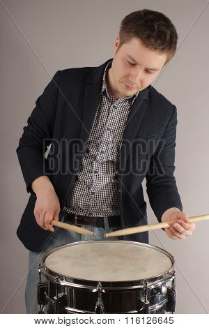 Portrait Of The Musician Of The Drummer
