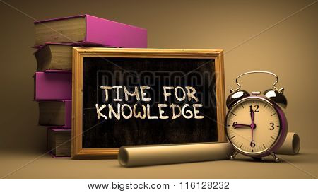 Handwritten Time for Knowledge on a Chalkboard.
