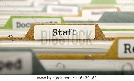 Staff Concept on Folder Register.