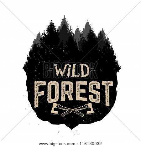 Wild Forest Vector Logo Template