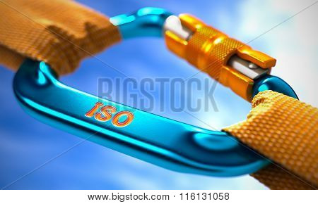 ISO on Blue Carabine with a Orange Ropes.