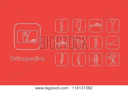Set of orthopedics simple icons