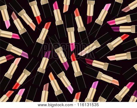 Lipstick Beauty Background Lip Gloss Woman Style Dark