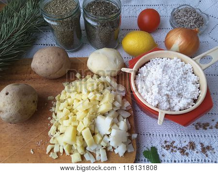 Cooking Vegetarian Healthy Food