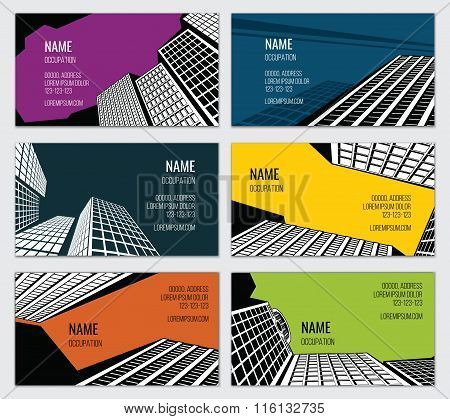 Real estate business card vector template