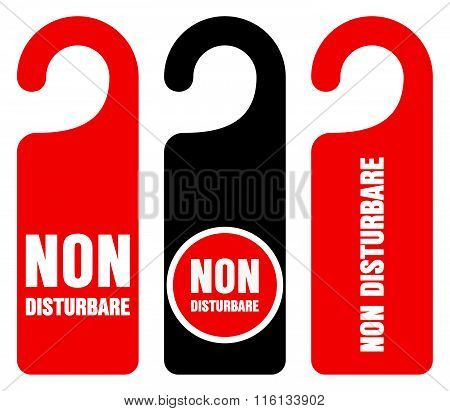 Non Disturbare Do Not Disturb Signs