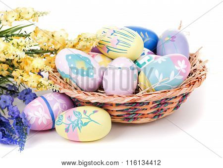 Assortment Of Colorful Easter Eggs