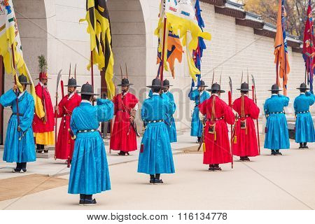 Guards At Gyeongbokgung Palace