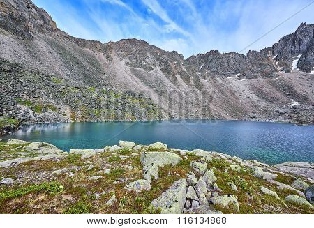 Mountain Lake At A Sports Pass