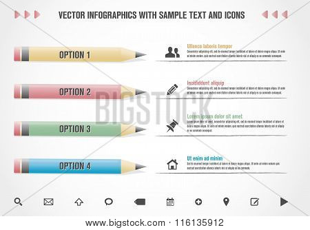 Modern Vector Infographics Template