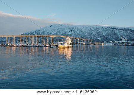 Harbor Bridge in Tromso, Norway