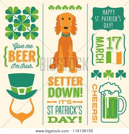 St. Patrick's Day vector design elements for banners, greeting cards, invitations