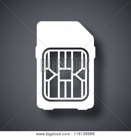 Sim Card Icon, Vector
