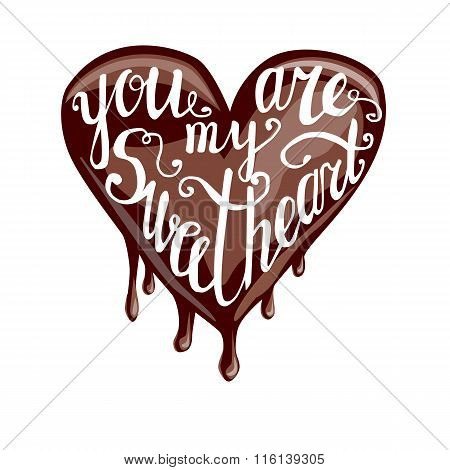 You Are My Sweeetheart Lettering