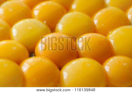 Yellow egg yolks