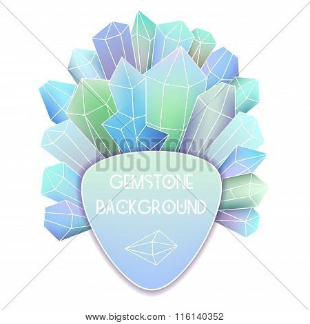 Soft Triangle Label With Crystal Splash Beside It