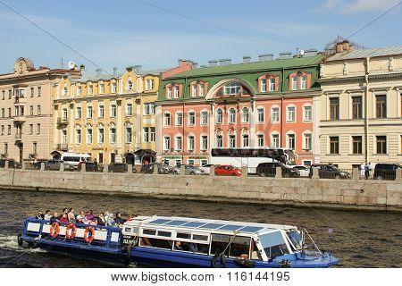 Houses On The Fontanka Embankment.