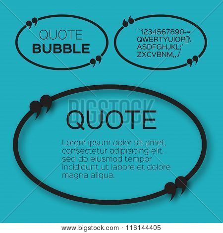 Oval Quote bubble.