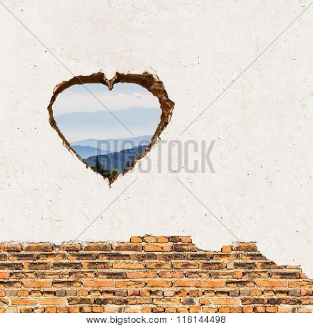 Heart Opening On The Wall