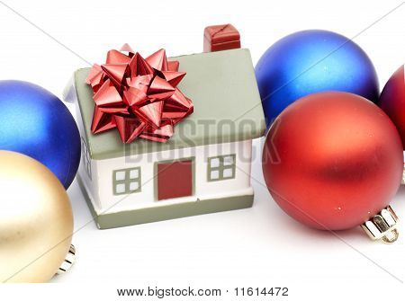 new year home and christmass ball