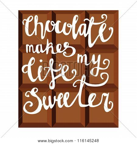 Lettering On Chocolate Bar