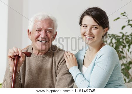Hugging Old Father