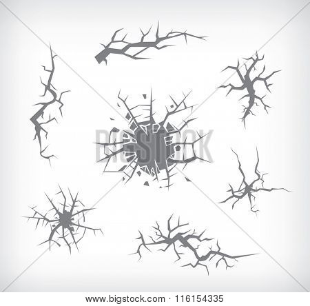 Set of cracks for disasters and other designs