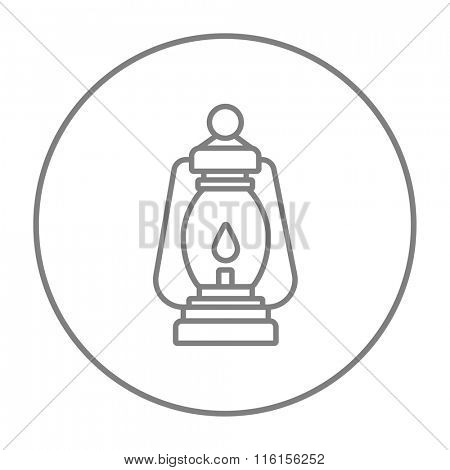 Camping lantern line icon.