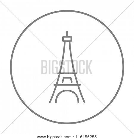 Eiffel Tower line icon.