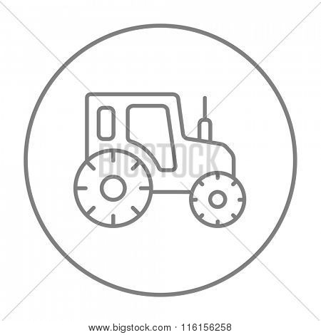 Tractor line icon.