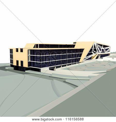 Comercial Building 3D Render
